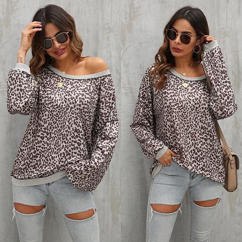 Leopard oversized top