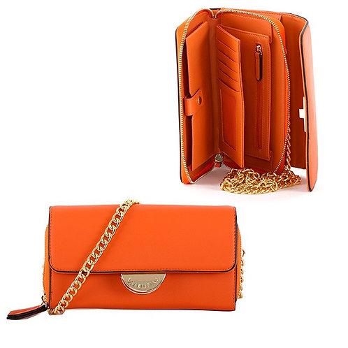 Valentino by Mario Valentino - Detachable chain strap small bag- Orange
