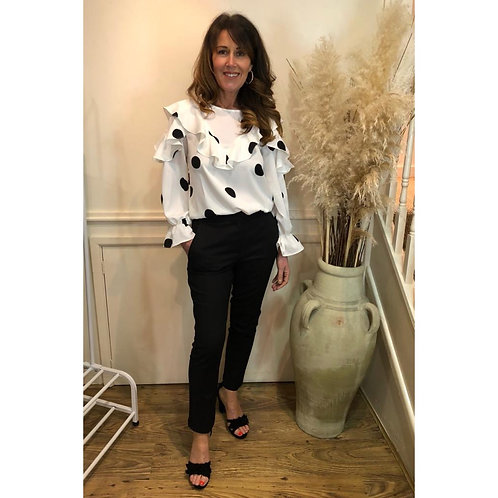 Jovonna - MEXICA spot frill blouse