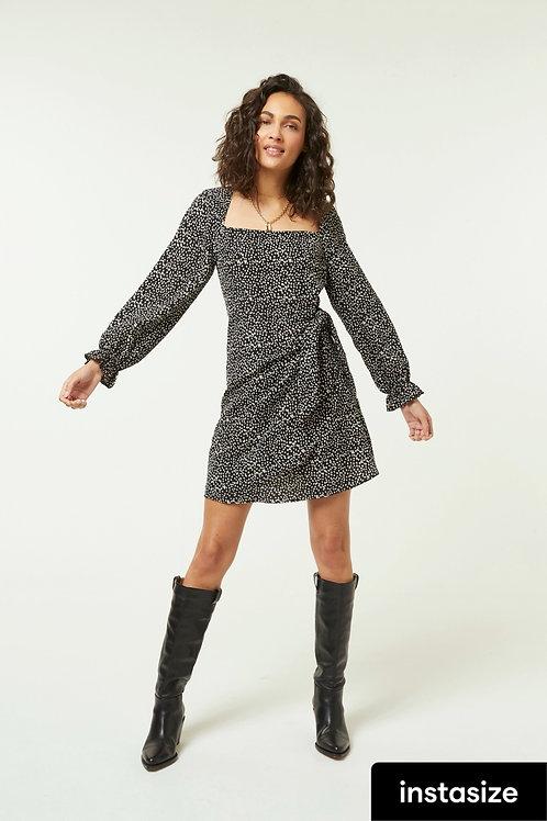Jovonna -REI Printed long sleeve dress