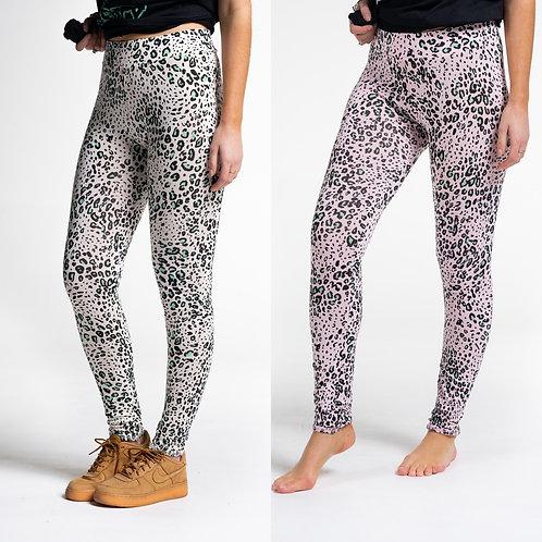 Sundae tee - 'FLO' animal print leggings