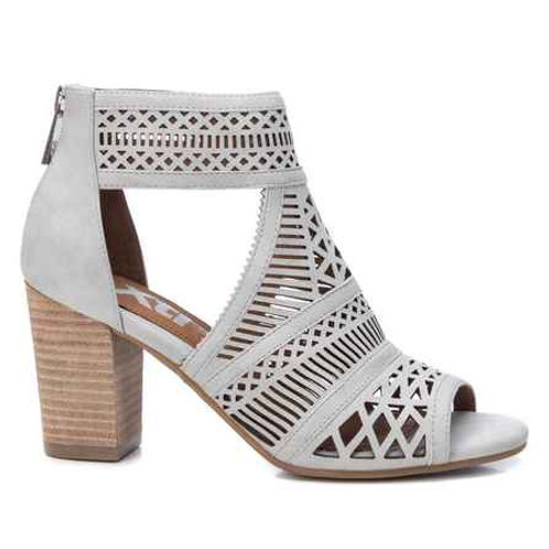 XTI - Cut out peep toe shoe boot -ice