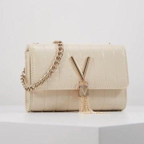 Valentino by Mario Valentino - Patent V tassel bag - Cream