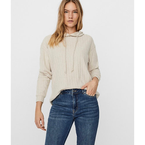Vero moda - Ribbed hoodie