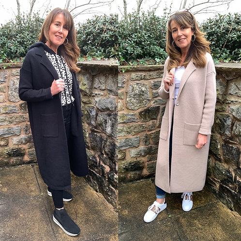 Malissa j - knitted duster coat