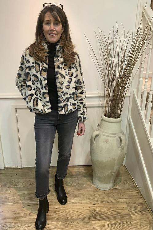 Vero Moda - Leopard faux fur jacket
