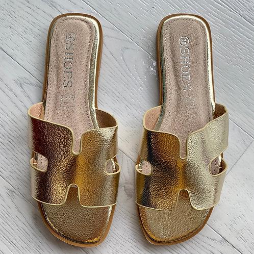 'H' sandal  - Gold