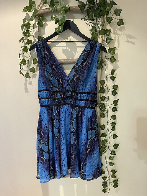 Guess -snake print fit and flare dress