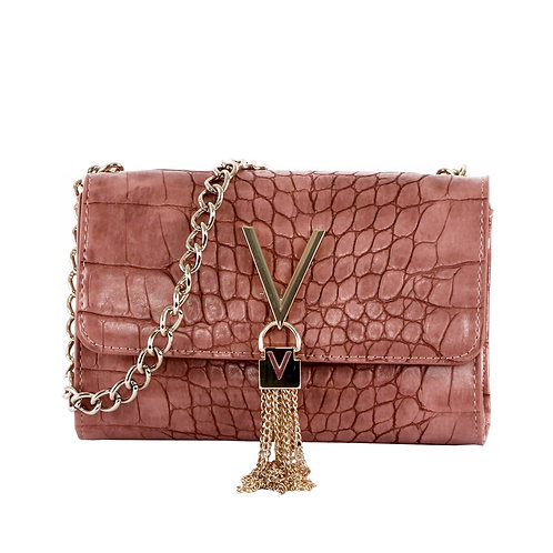 Valentino by Mario Valentino - 'AUDREY' Croc tassel bag