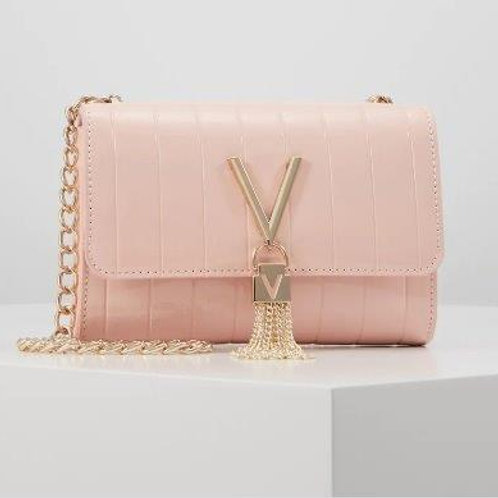 Valentino Bags - Patent V tassel bag - Pale Pink