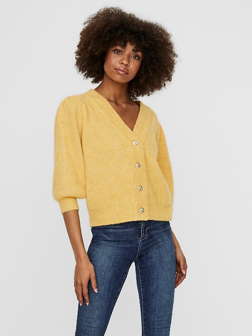Vero Moda - Knitted cardi with gold buttons