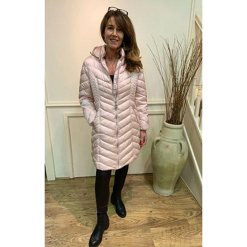 Marble - Hooded puffa coat