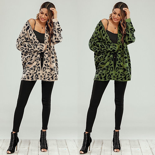 Leopard over sized cardi