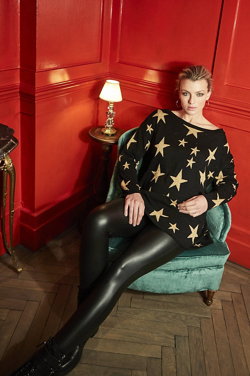 A Postcard from Brighton - 'STARRY' glam knitted jumper
