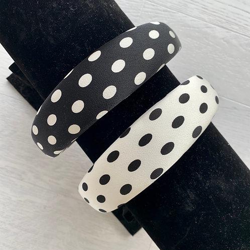 Chunky padded polka dot headband