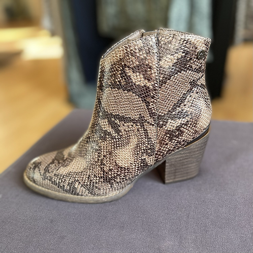 XTI - Snake print boots - Light Brown