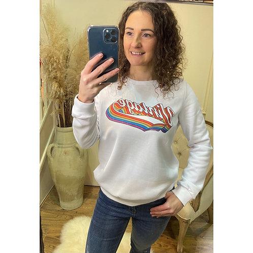 ' Vintage '  Slogan sweatshirt