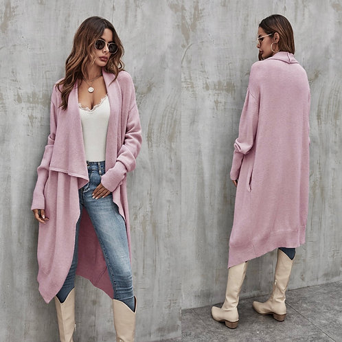 Long dusty Pink/Lilac cardigan