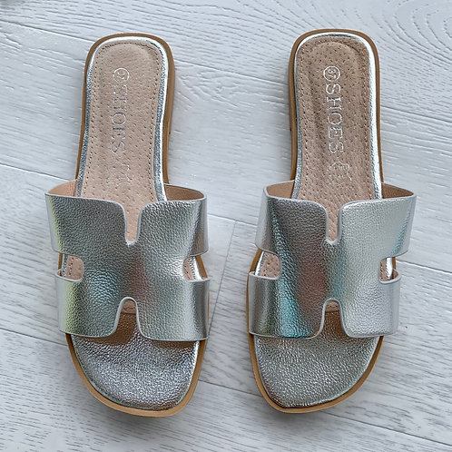 'H' sandal  - Silver