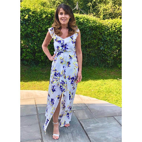 GUESS - Floral floaty maxi dress - White Mix
