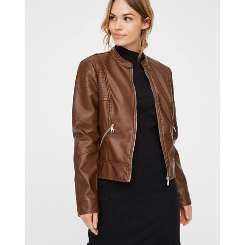 Vero moda - Faux leather jacket - Brown