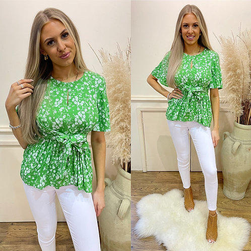 Great plains Fresh ditsy floral tie waist  top