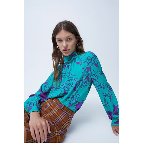 French Connection - Printed button  set top