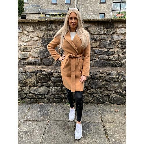 Vero Moda - Tan belted coat