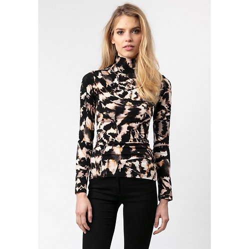 Religion - Printed high neck top