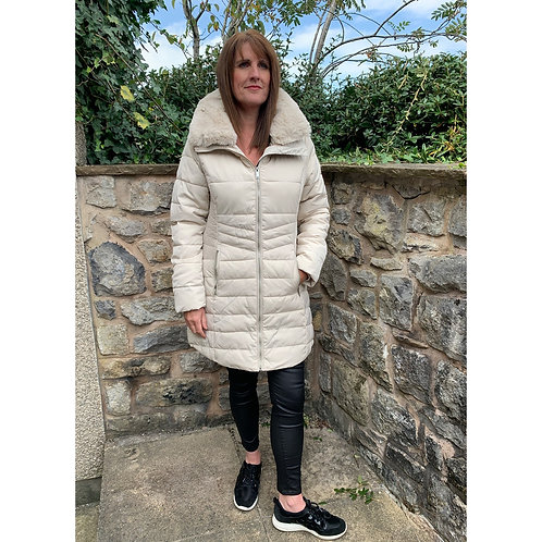 Rino and pelle - Quilted knee length coat