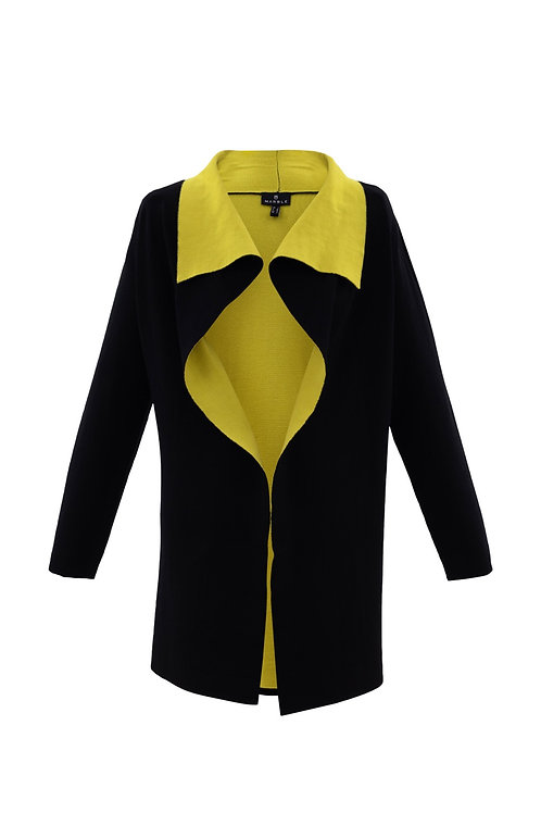 Marble 5809  black cardi with gold collar