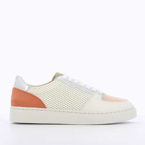 Vanessa Wu - White mesh sneakers with colored details