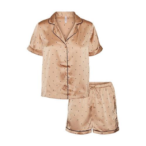 Vero Moda - Polka dot satin pj shorts set