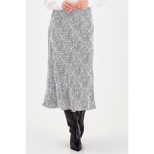 B.Young - Dalmatian print midi skirt