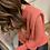 Thumbnail: Balloon sleeve knitted jumper
