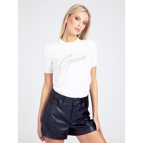 GUESS - Bling logo front knitted top