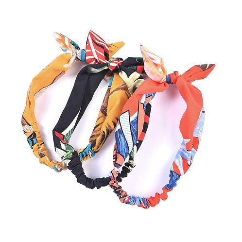 Tropical leaf print soft headband