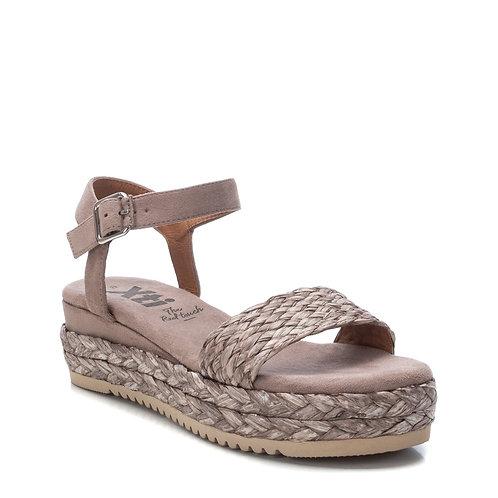 XTI - Raffia Woven effect flatform sandal