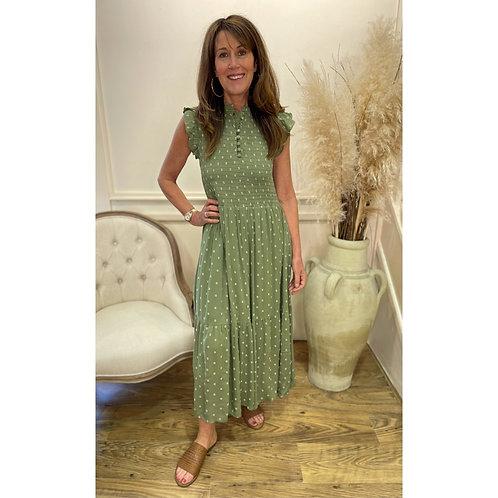 B.Young - Floral midi dress