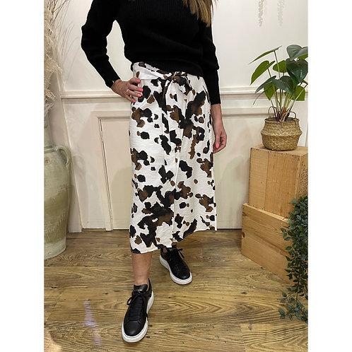 ICHI - CONATA SK - Cow print midi skirt