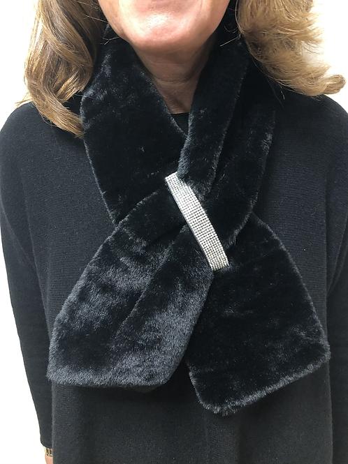 Malissa J - Faux fur bling detail  collar