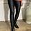 Thumbnail: Black faux leather legging