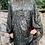 Thumbnail: Malissa J - snake print button front tiered tunic /dress