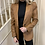 Thumbnail: Puff sleeve faux leather blazer