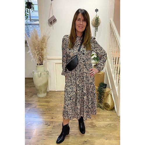Vero Moda - Tiger print longer prairie dress