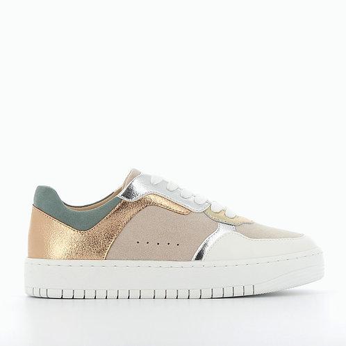 Vanessa Wu - 2308 Pastel sneakers with metallic details