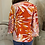 Thumbnail: Traffic People 'Mollie top' Printed v.neck top