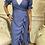 Thumbnail: Frill chambray wrap dress