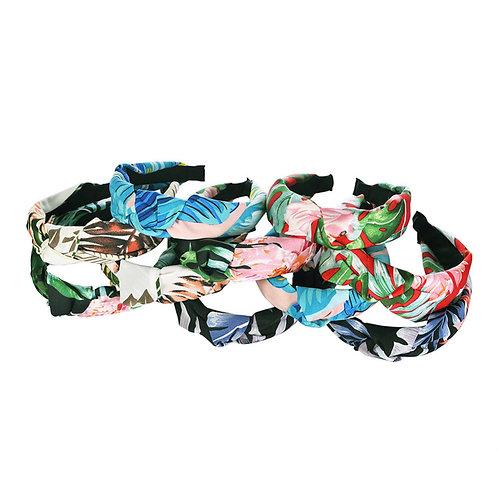 Tropical print knit headband