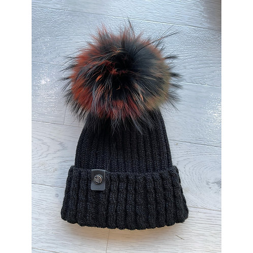 Luxy London - BOSTON Multi colourPom Pom hat